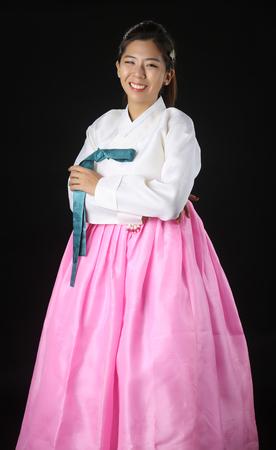 Woman asian girl hanbok dress korea
