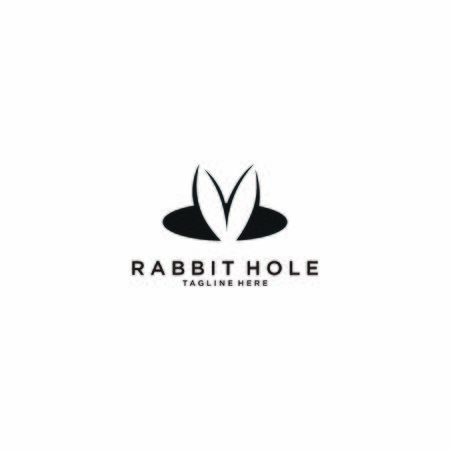 Illustration Vector Graphic a rabbit hole