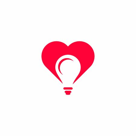 vector logo negative space lights and hearts.