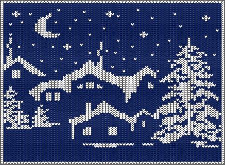 christmas landscape Stock Vector - 16798077