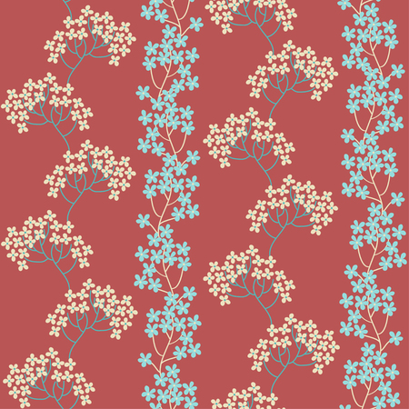 Retro background. Floral seamless pattern