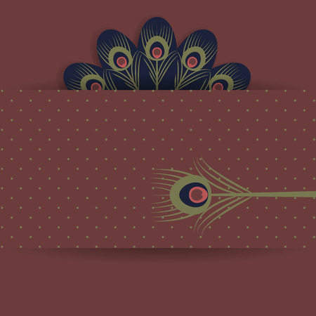 Retro background with stylized peacock feathers Stock Photo