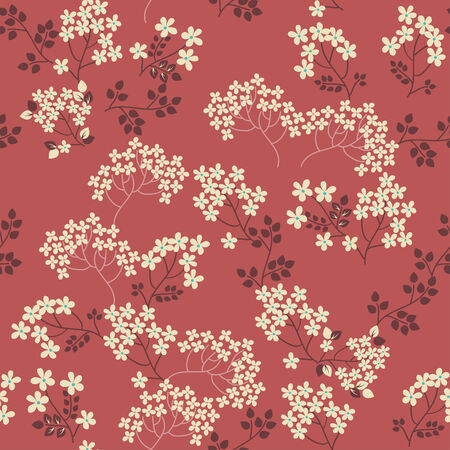 Floral seamless pattern, retro background Stock Photo