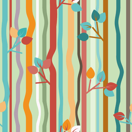 Vector seamless pattern with stylized branches  Illustration