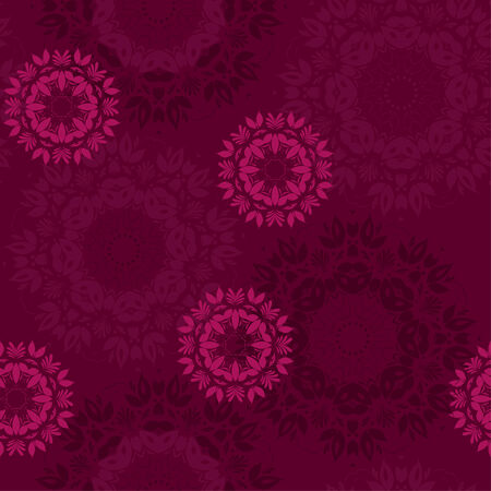 Beautiful flowers. Abstract seamless background with trendy elements - lace doily.Vector pattern for web-design, textile, graphic design.