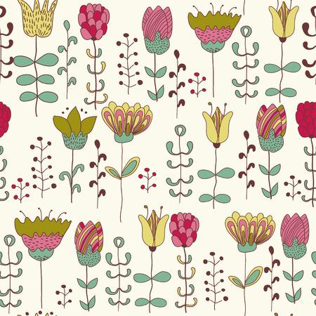 Sevimli çiçekler. Çiçek sorunsuz arka plan. Web-ve grafik tasarım, tekstil vektör desen.
