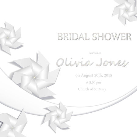 Wedding card or invitation  Elegant greeting postcard. Valentine anniversary  Vector