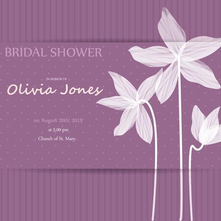 Düğün kartı veya soyut çiçek arka plan ile davet. Zarif tebrik kartpostal. Valentine yıldönümü