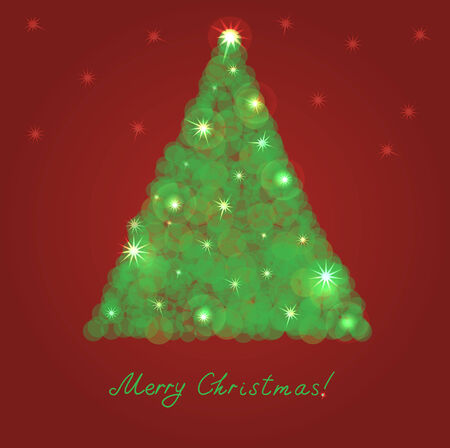 Christmas tree from light vector background  일러스트