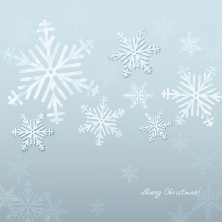 Beautiful snowflakes. Christmas an New Year Background.