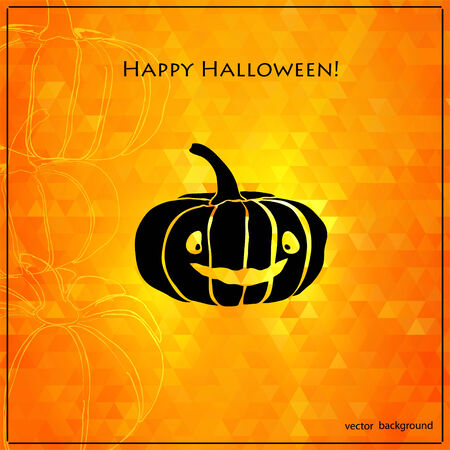 Pumpkin background. Vector pattern for web,  graphic design. Halloween background