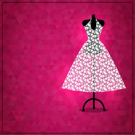 Beautiful wedding dress on mannequin