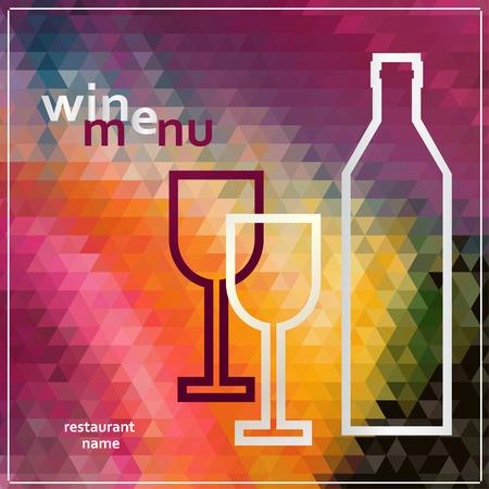 Restaurant or wine bar menu design. Vector illustration