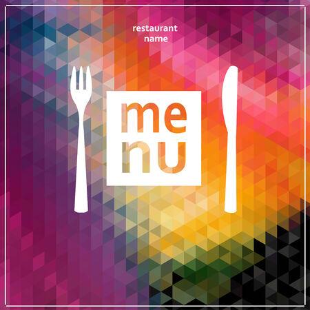 Restaurant Menu Card Design template. Vector Illustration.