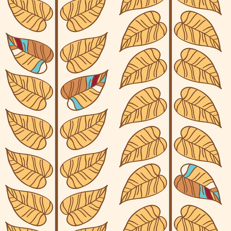Floral  seamless pattern with stylized leaf. Vector pattern for web-design, textile, graphic design.   Vector