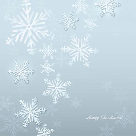Retro Christmas Background. Beautiful snowflakes   Illustration