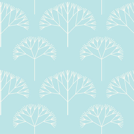 Winter forest  seamless pattern. Vector pattern for web-design, textile, graphic design.