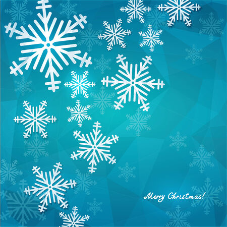 Christmas and New Year background, vector illustration