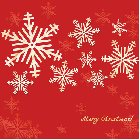 Christmas and New Year background, greetings card design