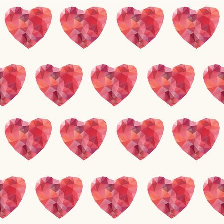 Mosaic hearts seamless pattern.  일러스트