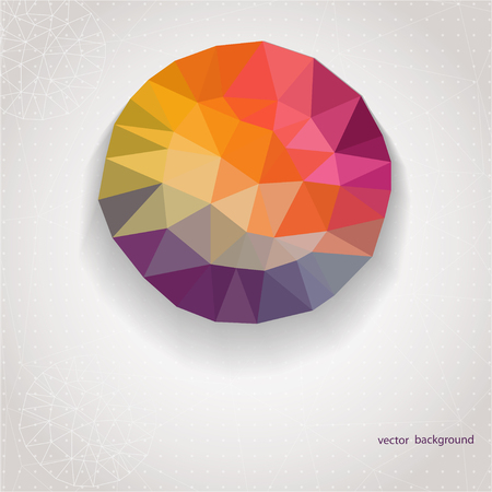 Round shape made of triangle. Abstract geometric background with plenty space for your text