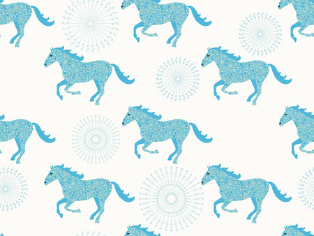 Horse seamless pattern. Vector pattern for web-design, textile, graphic design.
