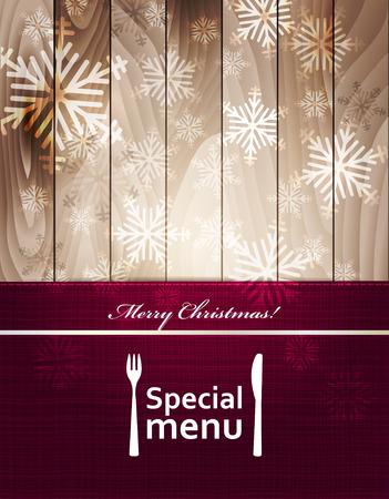 snowflacke: Special Christmas menu design