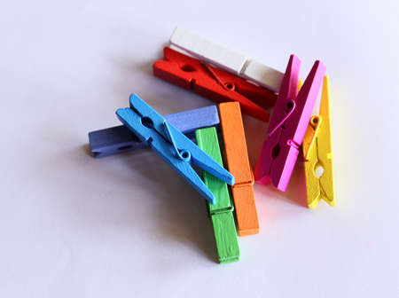 clothespins: Colorful clothespins