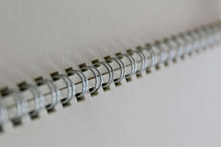 Notebook white page