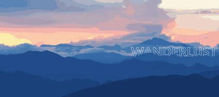 wanderlust: sunset hills, with Wanderlust Banner