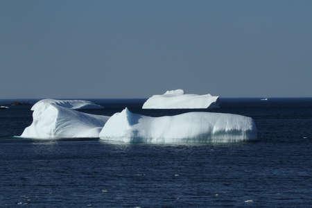 small iceberg in the north of canada