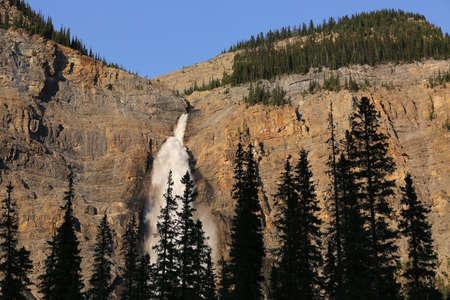 unaffected: Takakkawa waterfall in Yoho National Park