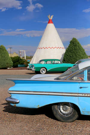 Wigwam hotel on Route 66. On October 2014 in Holbrook, Arizona, United States