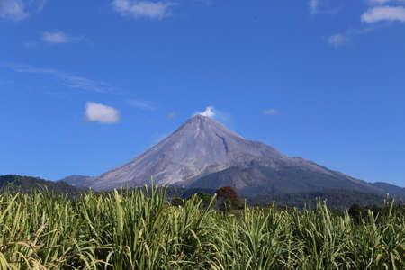 Smoke on top, Volcan de Colima in Mexico