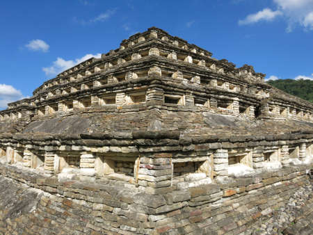 niches: Archaeological site of El Tajin, Veracruz in Mexico