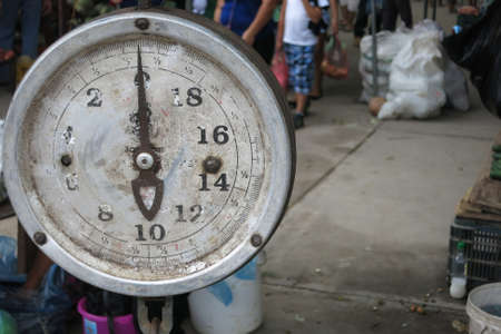 Weight scale in market