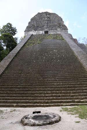 Temple 5, Tikal Maya Ruins in Guatemala Stock Photo