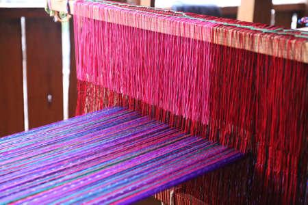 Weaving work - weaving machine in Guatemala Stock fotó - 81605731