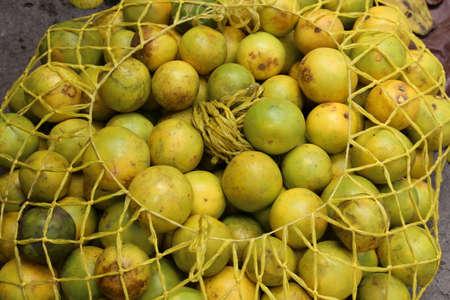 Fresh passion fruit maracuya -maracuja- at a market in Guatemala