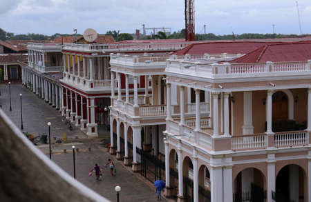 Plaza in Granada, Nicaragua -Juli 2015