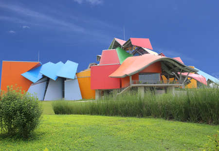 Biomuseo - Biodiversity Museum in Panama City by architect Frank Gehry Central America May 2015, Panama City, Panama