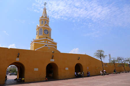 The clock tower gate of Cartagena, Colombia