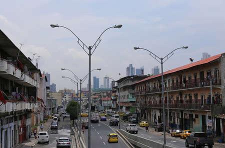 Living street in Panama,Panama City, June 2015
