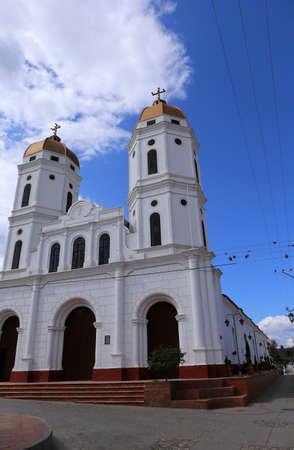 Church in the colonial town of Playa de Belen, in Colombia