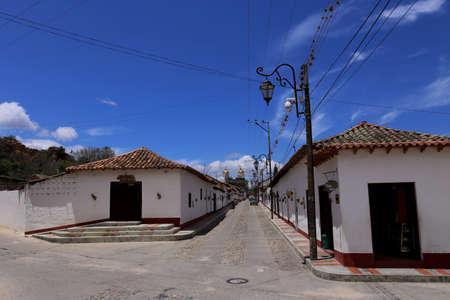 Colonial town of Playa de Belen, in Colombia