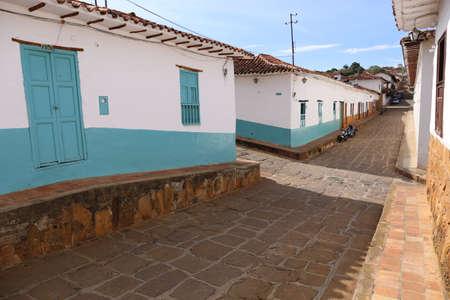 Colonial village of Barichara near San Gil, Colombia Stock Photo