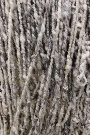 Sheep Wool fresh spinned 写真素材