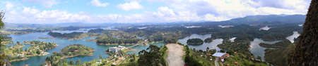 Views from the top of El Penon in Guatape, Colombia