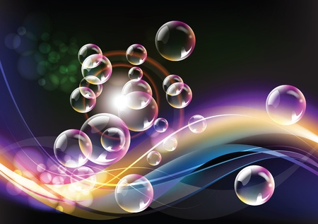 Artistic color background with bubbles lights and shadows Stock Photo - 9647129