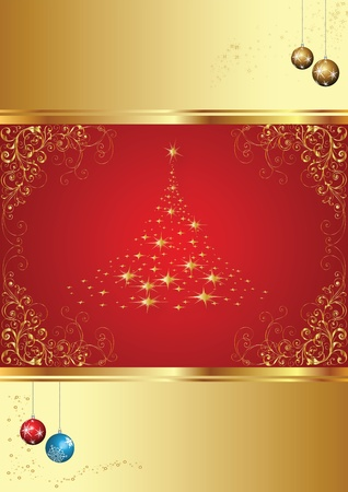 january 1st: Merry Christmas and happy new year. Illustration card
